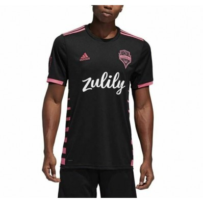 adidas 2019-20 seattle sounders away jersey - black-pink s