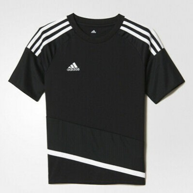 adidas black soccer jersey youth