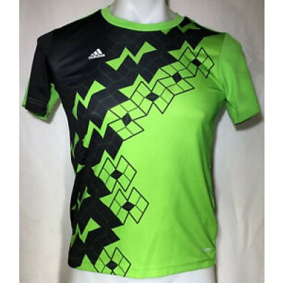 adidas soccer jersey climalite neon green