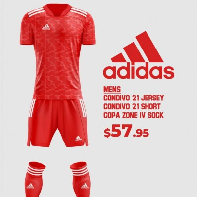 adidas soccer jersey set for young men