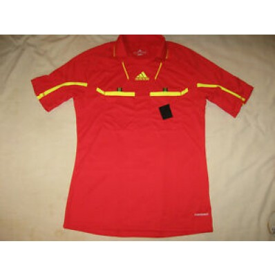 adidas soccer referee jersey red