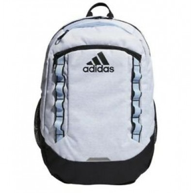 adidas unisex excel backpack jersey white/glow blue