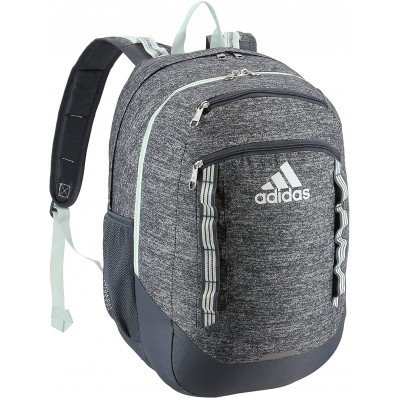 adidas unisex excel backpack onix jersey/clear orange/onix one size