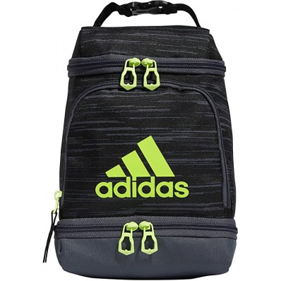 adidas unisex excel insulated lunch bag onix jersey/black one size