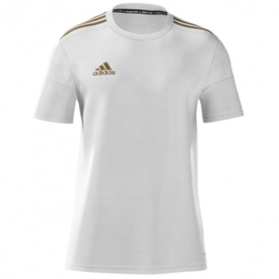 adidas white youth soccer jersey